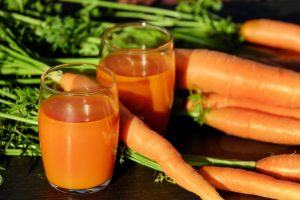 cold pressed carrot juice